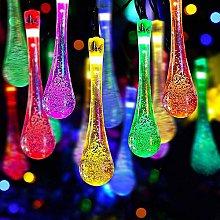 Solar Raindrop String Lights Outdoor Garden Lights