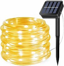 Solar Rope Light Outdoor, Updated 100 LED Solar