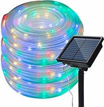 Solar Rope Lights Outdoor,KINGCOO Waterproof 72FT