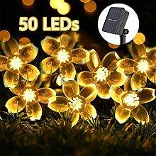 Solar String Flower Fairy Lights 22ft 8Modes 50LED