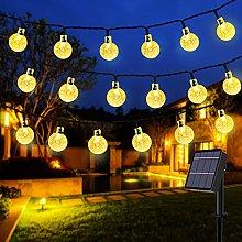 Solar String Lights,50 LED 24 ft Solar Outdoor