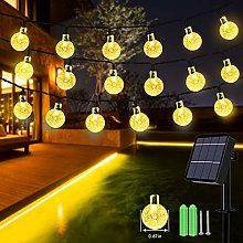 Solar String Lights, 59Ft 100 LED Globe String