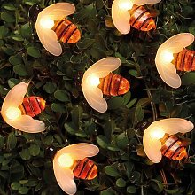 Solar String Lights Bumble Bee By Coopers of