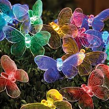 Solar String Lights Butterfly By Coopers of