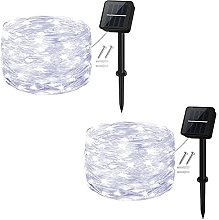 Solar String Lights,Cshare 50 LEDs 2 Pack Powered