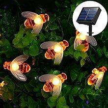 Solar String Lights,DINOWIN Outdoor Waterproof 30