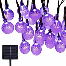 Solar String Lights,DINOWIN Waterproof 20ft 30 LED