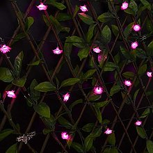 Solar String Lights, KEEDA 30 LED Rose Flower
