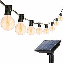 Solar String Lights Outdoor, 26Ft 25 Sockets G40