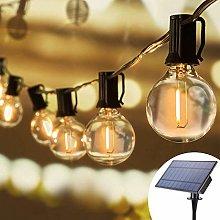 Solar String Lights Outdoor, 32Ft 25 Sockets G40