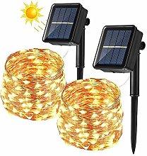 Solar String Lights Outdoor, BrizLabs 2 Pack
