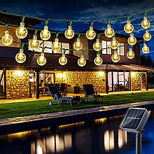 Solar String Lights Outdoor, BrizLabs 21.33ft 30