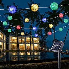 Solar String Lights Outdoor, BrizLabs 22.73ft 50