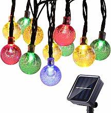 Solar String Lights Outdoor, BrizLabs 30 LED Solar