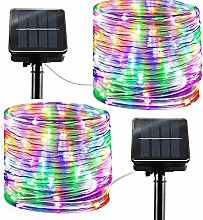 Solar String Lights Outdoor Rope Lights, 2 Pack 8