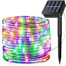 Solar String Lights Outdoor Rope Lights, 8 Modes