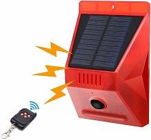 Solar Strobe Light with Motion Detector IP65