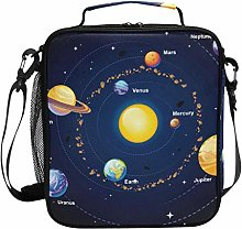 Solar System Space Galaxy Planets Lunch Bag