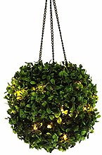 Solar Topiary Ball Light Hanging Greenery Ball