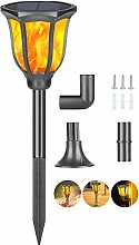 Solar Torch Light with Flickering Flame, Qoolife