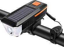 Solar / USB Charging Bike Light Bicycle Bell Horn