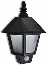 Solar Wall Lamp with Motion Sensor - Black