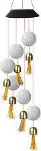 Solar Wind Chime Lamp Particle Ball Painted
