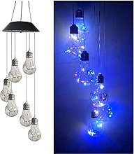 Solar Wind Chimes 6 LED Bulb Lights Color Changing