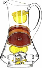 SOLAVIA Clear Glass Wine Water Squash Carafe Jug