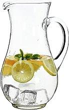 SOLAVIA Tall Clear Glass Cordial Bistro Jug Carafe
