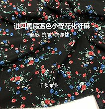 Sold by the metre as a decorative fabric, black,