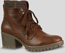 Sole Comfort Brown Lace Up Walker Boots - 6