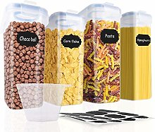 SOLEDI Cereal Storage Containers with Lids Set of