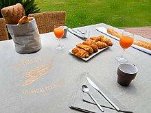 Soleil d'Ocre Baguette Tablecloth, Cotton,