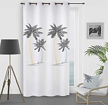 Soleil d 'Ocre Curtain with Eyelets, Palm