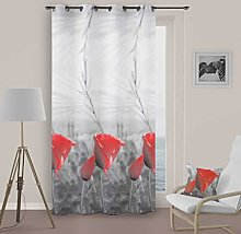 Soleil d 'Ocre Curtain with Eyelets Spring,