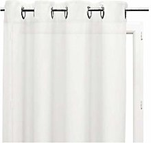 Soleil d'Ocre Curtain With Metal Eyelets White