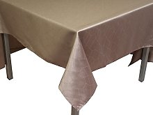 Soleil d'ocre FIESTA taupe tablecloth 140x300