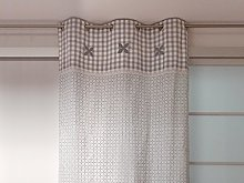 Soleil d 'Ocre Oslo Embroidered Curtain with