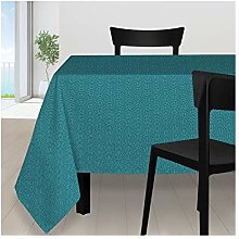 Soleil d'ocre Peacock Tablecloth, Polyester,