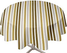 Soleil d'Ocre Round Oilcloth Tablecloth 160 cm
