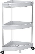 SOLEJAZZ Corner Trolley, Kitchen Shelf, 3-Tier