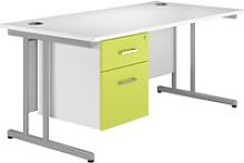 Solero C-Leg Single Pedestal Desk (Green),
