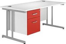 Solero C-Leg Single Pedestal Desk (Red),