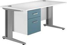 Solero Deluxe C-Leg Single Pedestal Desk (Light