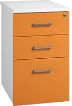 Solero Desk High Pedestal (Orange), 44wx80dx73h