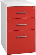 Solero Desk High Pedestal (Red), 44wx80dx73h (cm),