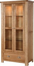 Solero Display Cabinet In Ashwood With 2 Doors