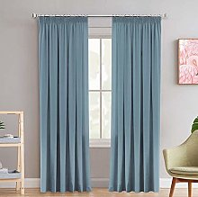 Solid Blackout Functional Curtain Drapes Block
