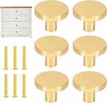 Solid Brass Round Cabinet Knobs Cupboard Handle
